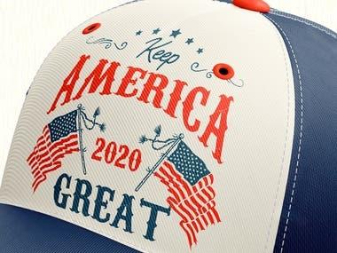 America Cap Design