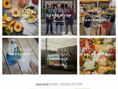 Grocery Store Website Development