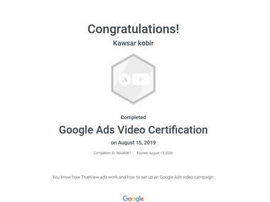 YouTube Advertisement Certification