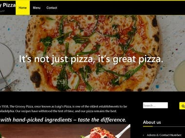 WORDPRESS The Groovy Pizza Store