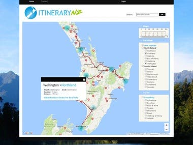 Route planner wordpress site
