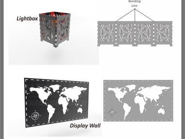 Design for laser cut metal