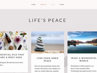 JOOMLA - Lifestyle Blog Site