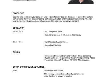 Profile Resume