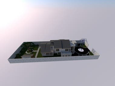 5 bedroomed contemporary residential building