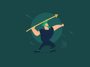 Revamp of Johnny Bravo simple illustration