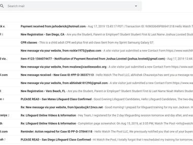 Email Handling