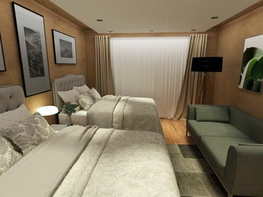 3D Renderings of Interiors