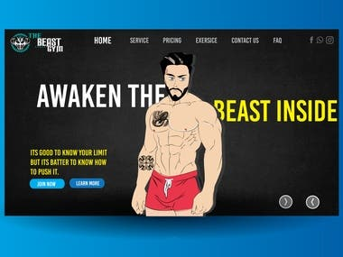 Gym Website Design and Mock up By Nilesh IT Solution