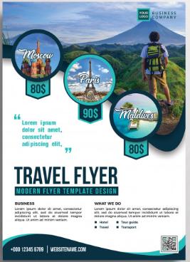 flyer design on travel