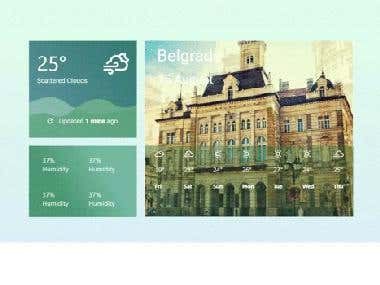 Weather Forecast App using React Material UI