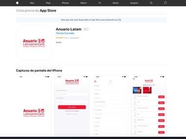Anuario Latam iOS Native App