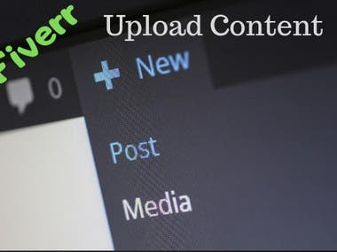 Upload content to the word-press website
