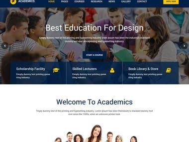 Academics Education WebSite