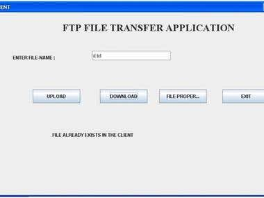 File Transfer Application in Java