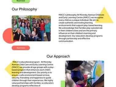 kindergaten website design