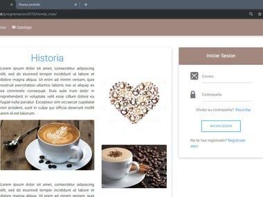 Pagina web para un negocio de una tienda de cafe