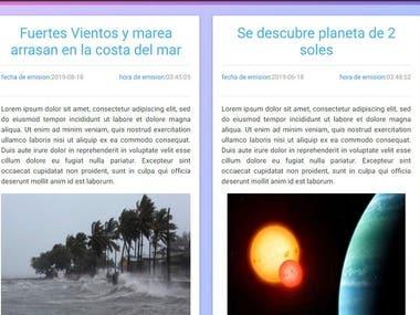 Pagina web sencilla para articulos de prensa