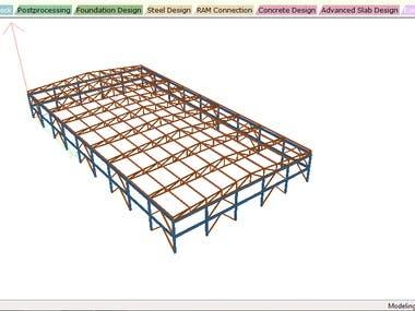 Truss Roof Structure 60m x 30m