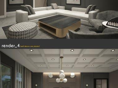 Freelancer Contest Winner: Living Room Interior Design