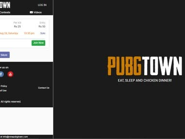Pubg Mobile Contests and Tournaments Organizing Platform