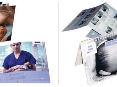 Brochure and User Guide for a medical technology company