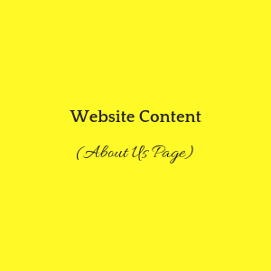 Website Content (About Us Page) Formal Tone - Pricing USD 75