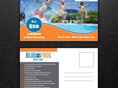 Pool Postcard Design