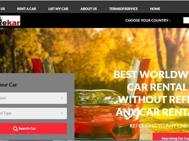 Dynamic Website with php, html,css(Car Rental Management)