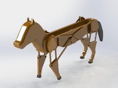 3D printable Walking Horse