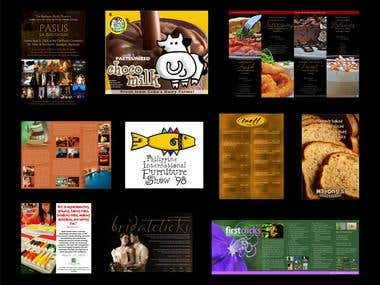 brochures, posters and other printed designs
