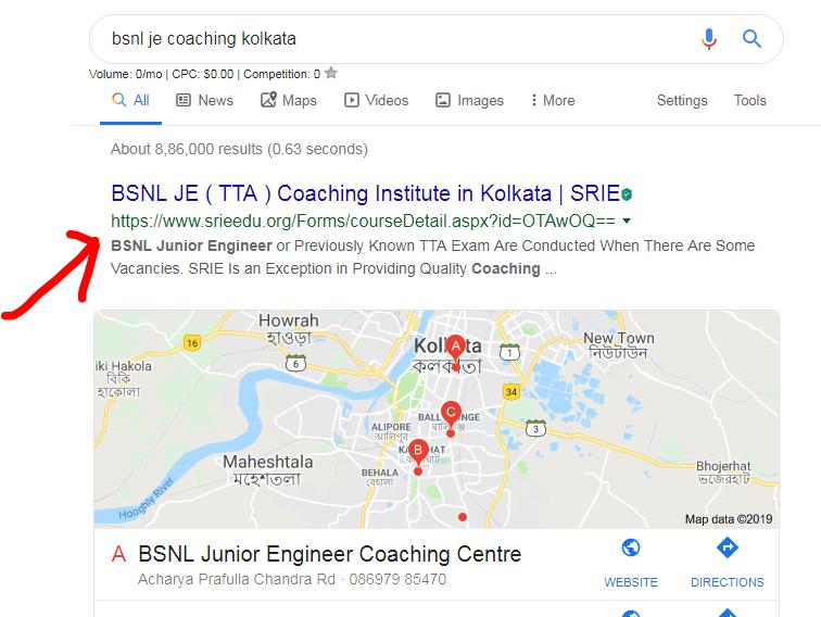 SEO Project for SRIE Kolkata | Freelancer