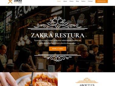 Restaurant Website (Laravel + node.js + Angular)