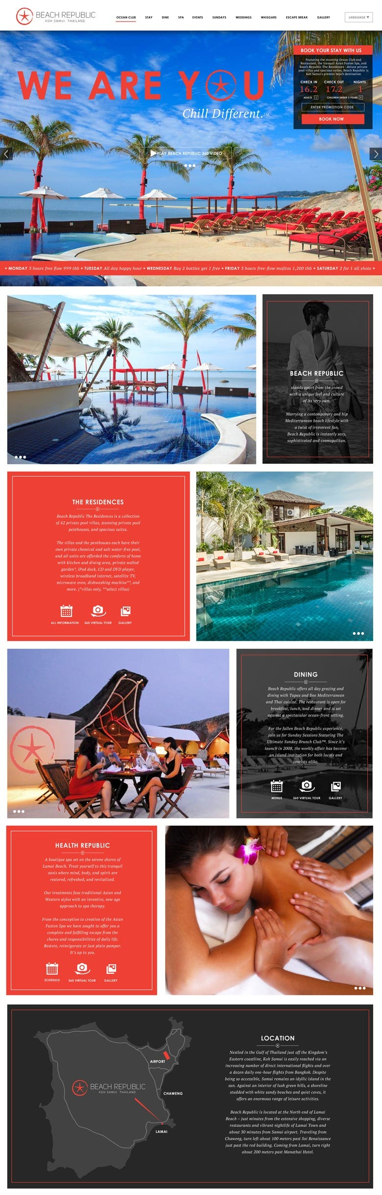 Web Layouts Beach Club Koh Samui Thailand Freelancer