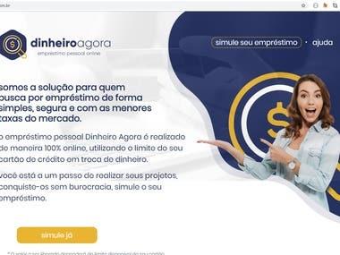 [Dinheiro Agora] WordPress Website for Loans