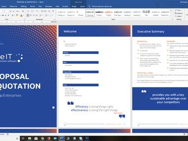 Proposal design in MS Word