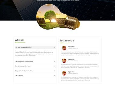 Online Solar Panel selling website