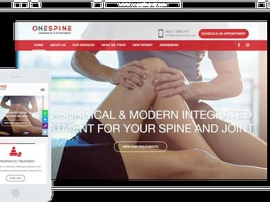 onespinemy.com Website for Clinic