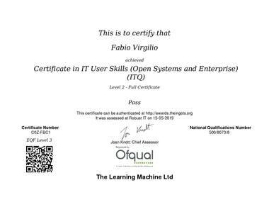 ITQ Level 2 Certificate