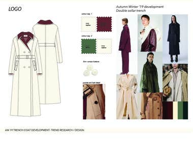 FASHION DESIGN DEVELOPMENT AND TECHNICAL DRAWING EXAMPLE