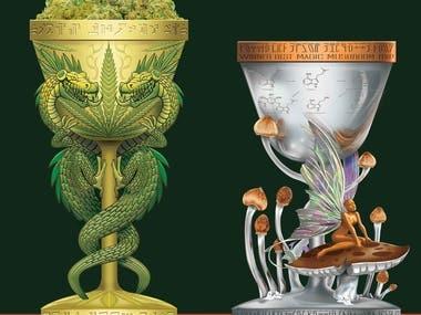 Mushroom & Dragon Cannabis Grower's Trophy