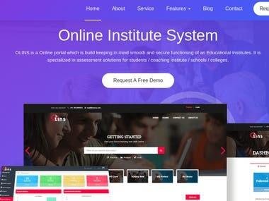 Online Institute System