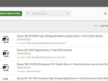 eBay /Amazon products Listing