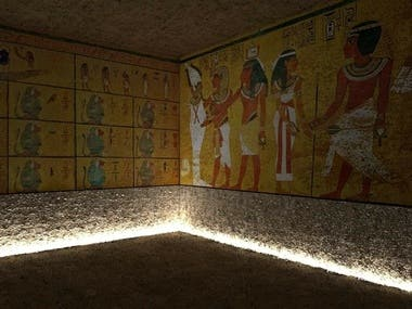 My 3D design for Tutankhamun King tomp