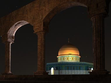 My 3D design for ancient masjed