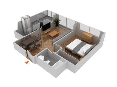 MODELADO 3D - VIVIENDAS