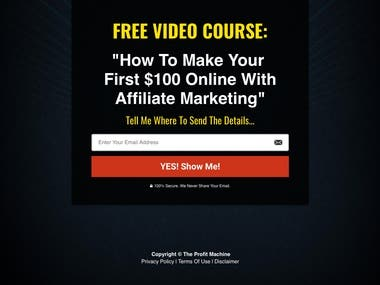 Trip Wire Sales Funnel (Affiliate Marketing Niche)