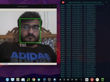 Real time Face Recognition using Python