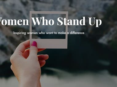 Women Who Stand Up