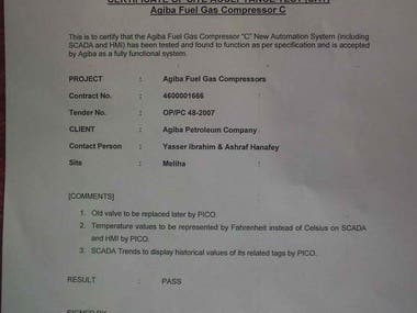 Agiba Fuel Gas Compressors Upgrade (SLC & FactoryTalkME)